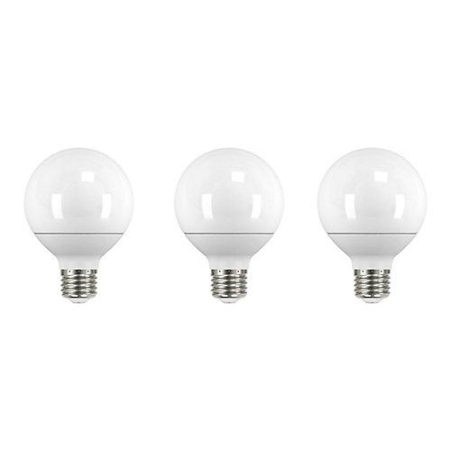 40W Equivalent Soft White (5000K) G25 LED Light Bulb (3-Pack)