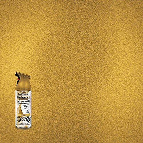 Metallic Spray Paint And Primer in One in Vintage Gold, 340 G Aerosol
