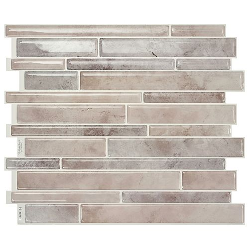 Milano Todi 11.55 in. W x 9.63 in. H Peel and Stick Decorative Mosaic Wall Tile Backsplash (4-Pack)