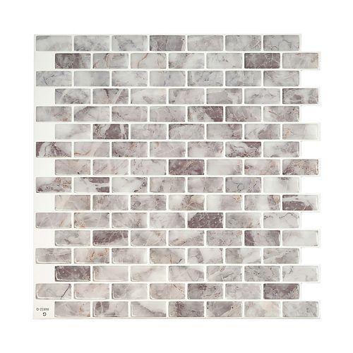 Mandolia Acosta 9.94 in. W x 9.92 in. H Peel and Stick Decorative Mosaic Wall Tile Backsplash (4-Pack)