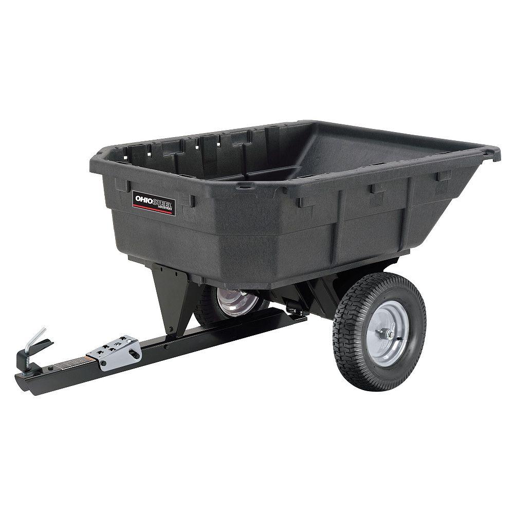 Ohio Steel 12.5/15.0 cu. ft. Heaped 1000 lb. Poly Swivel Dump Cart