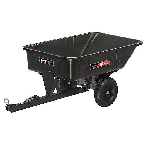 10 pi³ poly pivotant chariot, 600 lb. capacité