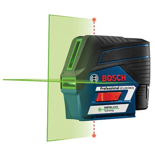 12V Max Connected Green-Beam Cross-Line Laser with Plumb Points