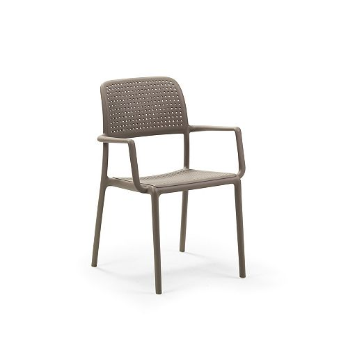Bora Arm Chair (Set of 4) in Tortora