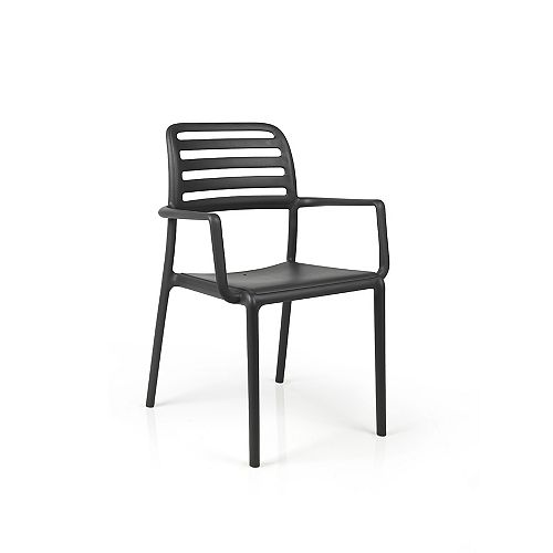 Costa Arm Chair (Set of 4) in Antracite