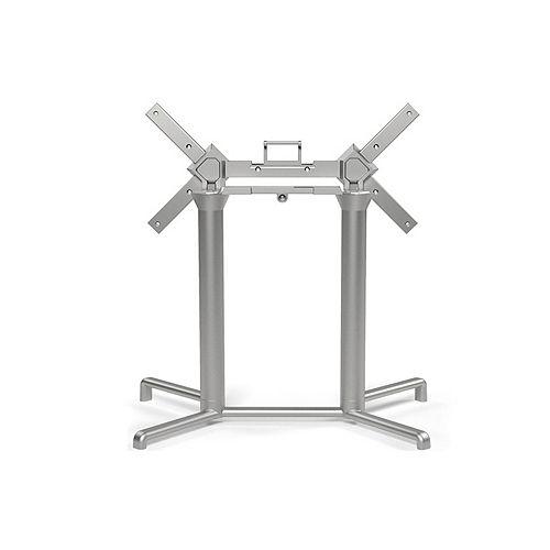 Scudo Double Tilting Dining Table Base - Silver