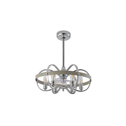27 inch 6-Light LED Ceiling Fan