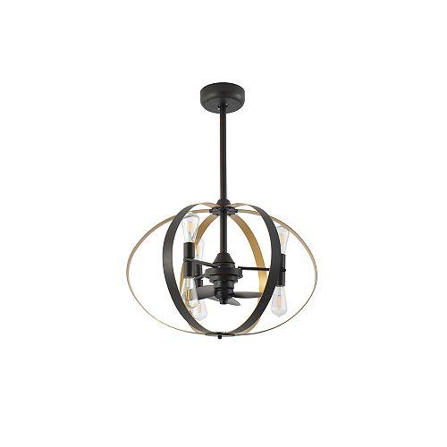 29 inch Black 6-Light LED Ceiling Fan