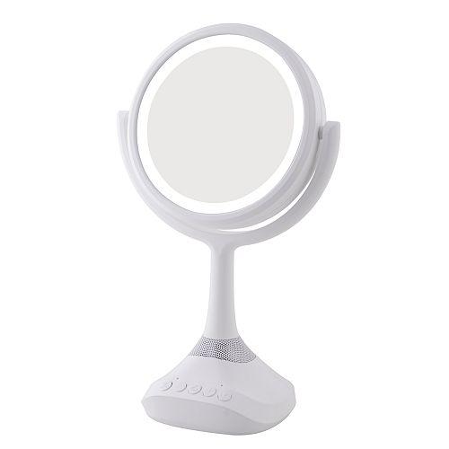 Miroir de meuble-lavabo double face à DEL avec haut-parleur Bluetooth