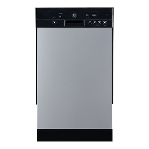 18-inch Front Control Built-In Dishwasher in Stainless Steel with Stainless Steel Tub