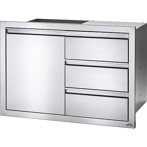 36 inch X 24 inch Single Door & Triple Drawer Combo