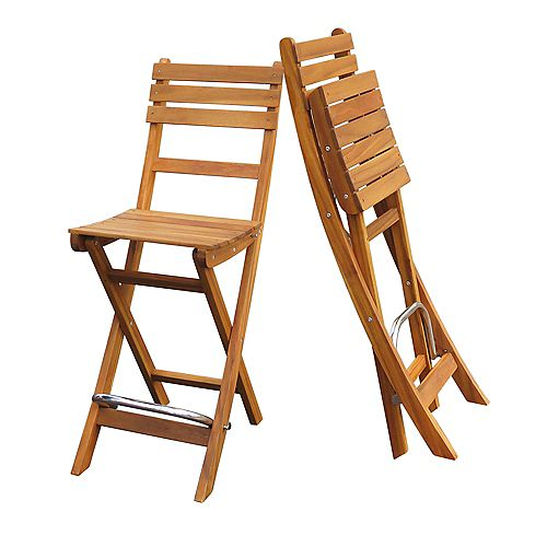 Sofia Bar Chair (2-Pack), Golden Teak