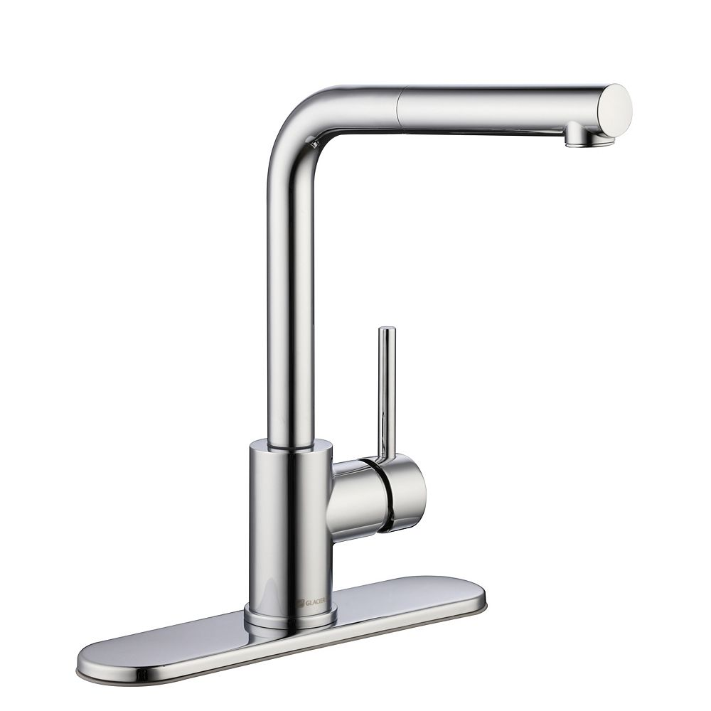 Glacier Bay Menlo Single-Handle Pull-Out Sprayer Kitchen Faucet in Polished Chrome