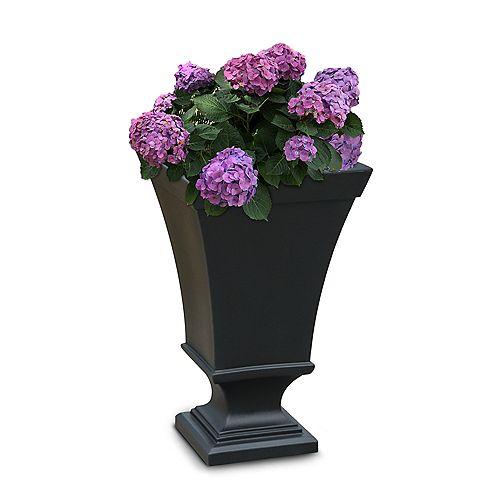 Vienna 25 inch Tall Urn Planter- Black