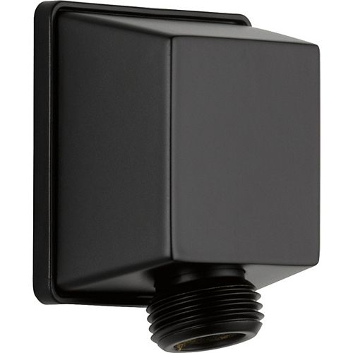 Square Wall Elbow for Hand Shower in Matte Black