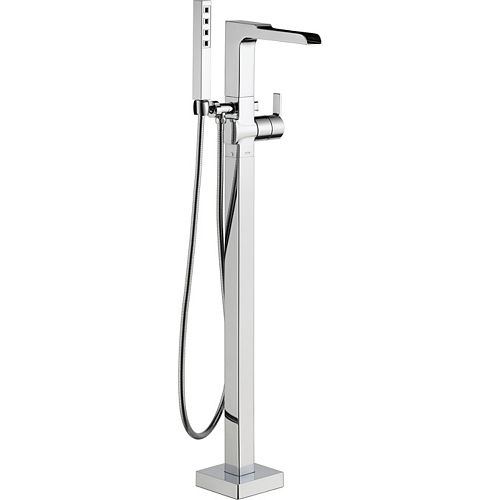 Ara Floor Mount Tub Filler Trim, Chrome (Valve Sold Separately)