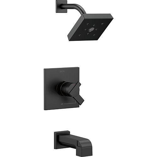 Ara Monitor 17 Series Tub and Shower Trim, Matte Black (Valve Sold Separately)