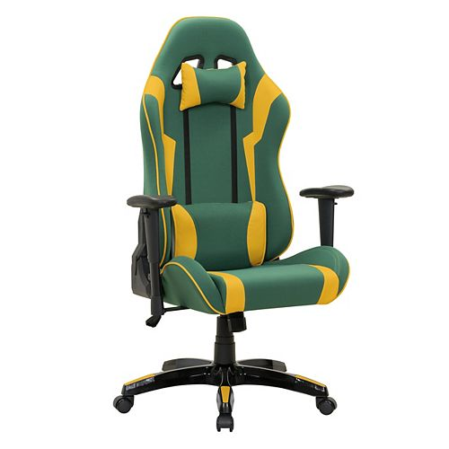 Corliving Green and Yellow High Back Ergonomic Gaming Chair