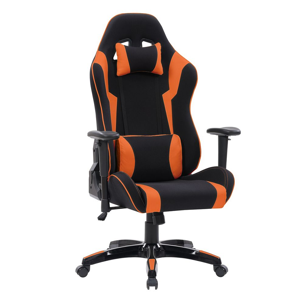 Corliving Black and Orange High Back Ergonomic Gaming Chair