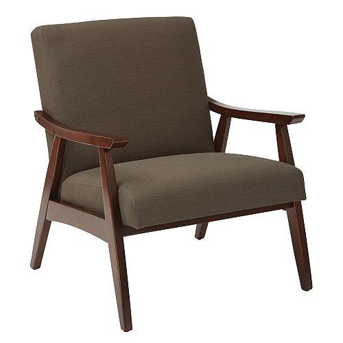 Davis Chair in Klein Otter fabric with medium Espresso frame