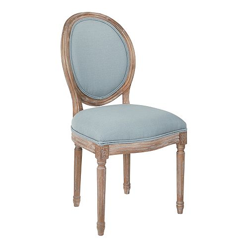 Lillian Oval Back Chair in Klein Sea Brushed Frame