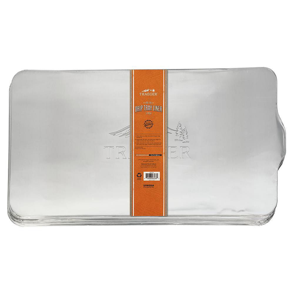 Traeger Pro-780 5-Pack Multilingual Drip Tray Liner