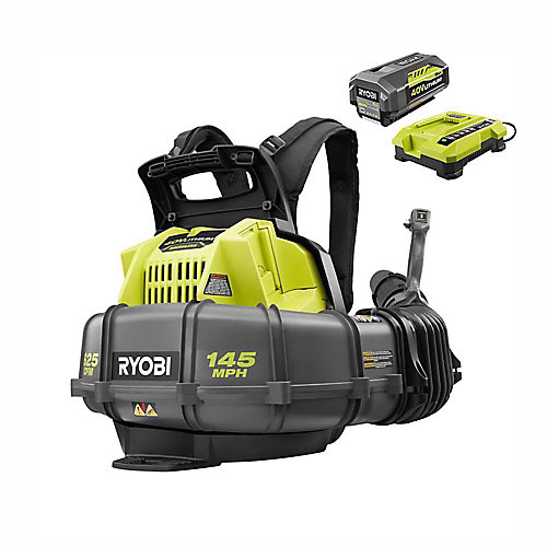 145 MPH 625 CFM 40V Lithium-Ion Cordless Backpack Blower 5Ah Battery and Charger Included