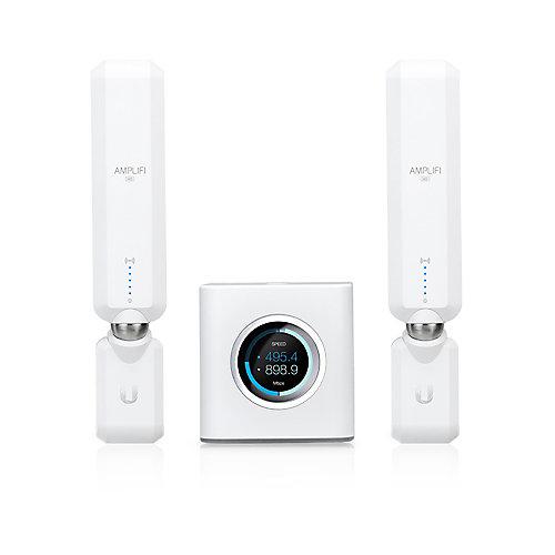 Système Wi-Fi maison haute densité avec routeur et 2 points de maille