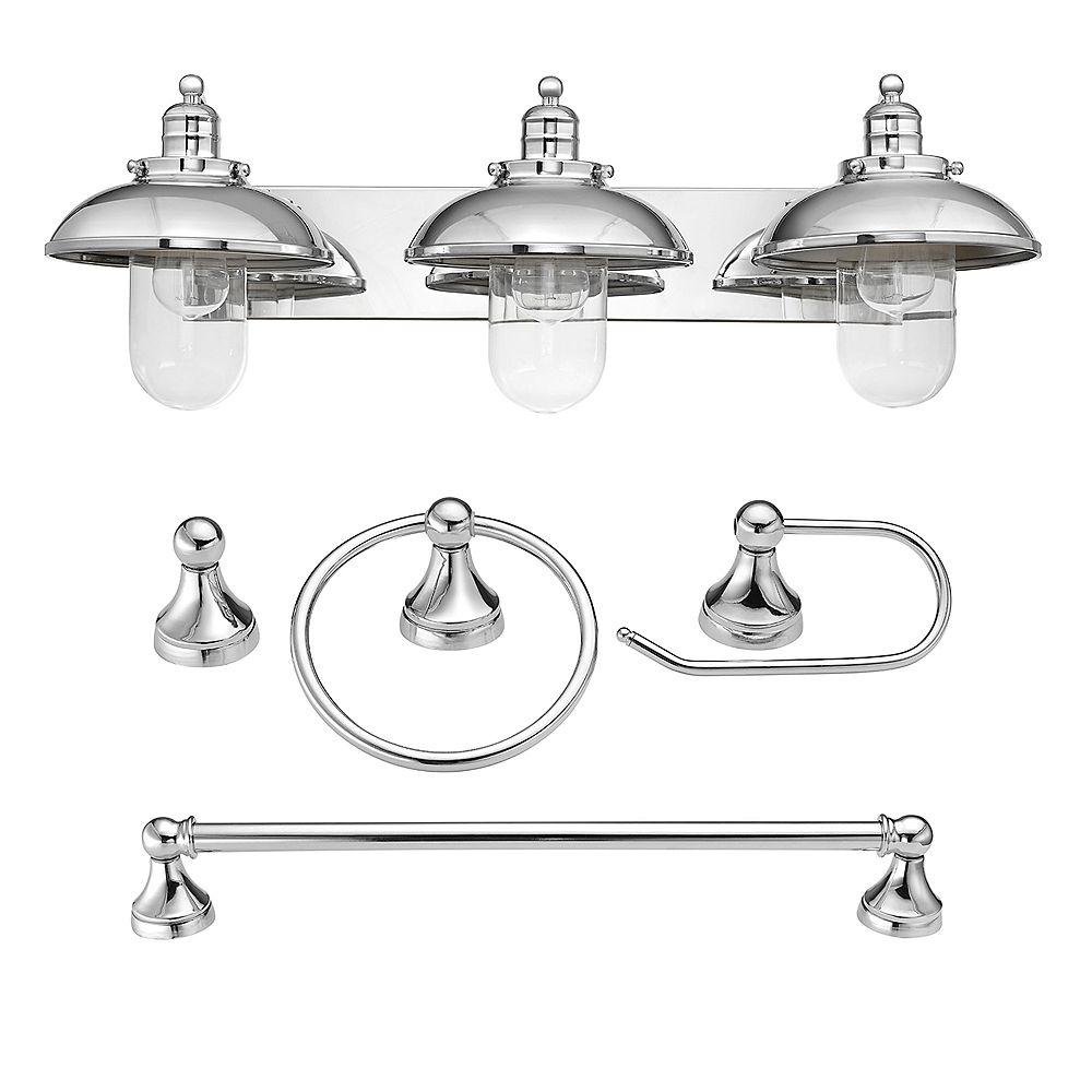 Globe Electric Freemont Bathroom Vanity, Home Depot Canada Bathroom Vanity Lights