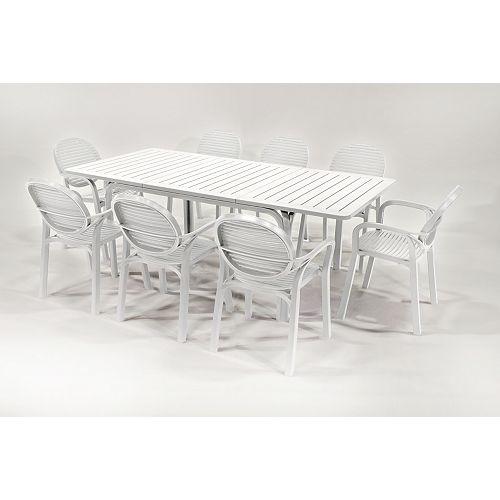 9-Piece Alloro/Gardenia Patio Set - White