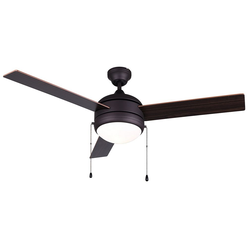 Canarm CALIBRE 48-inch Oil Rubbed Bronze Ceiling Fan with Flat Opal Glass