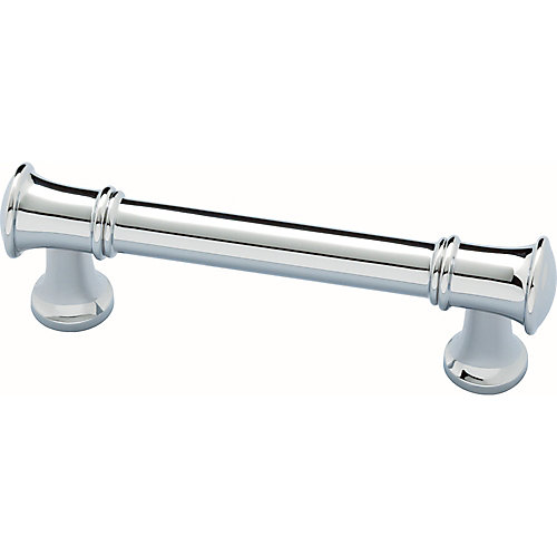 Silverton 3 inch (76mm) Chrome Cabinet Pull (2-Pack)
