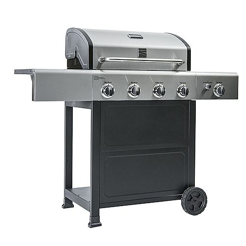 4-Burner BBQ with Side Burner and Stainless Steel Lid
