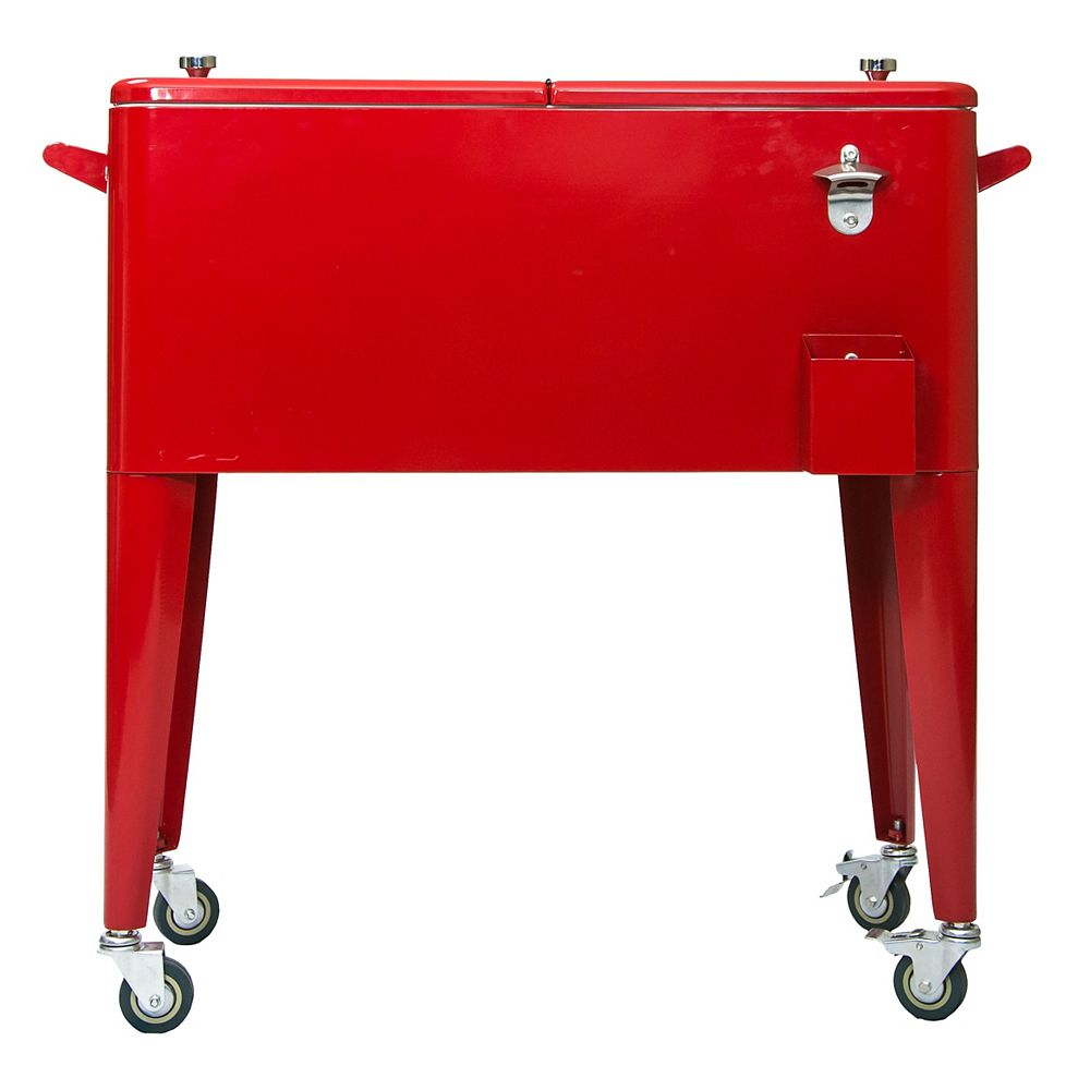 Permasteel Patio Coolers-80 QT - Red