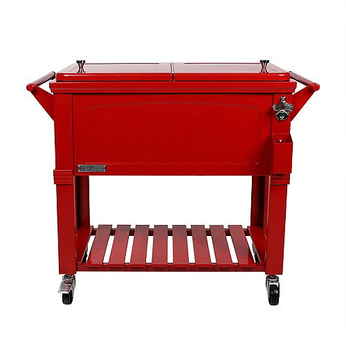 Patio Cooler Furniture Style 80QT - Red