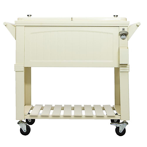 Patio Cooler Furniture Style 80QT - Cream