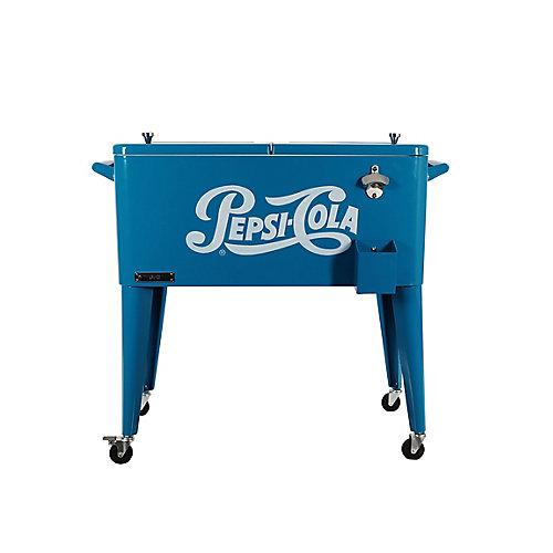 Patio Cooler-80 QT - Blue Pepsi