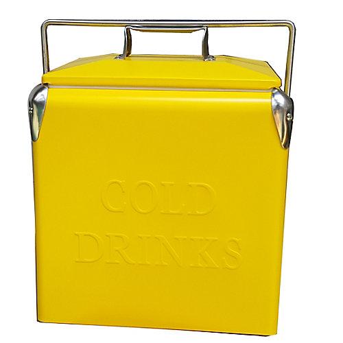 Portable Patio Cooler-14 QT - Yellow