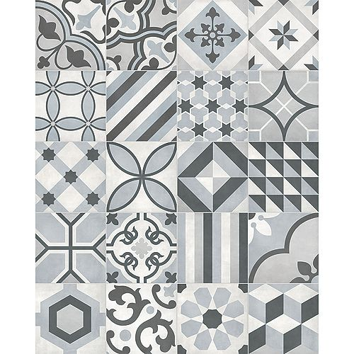 Artisano Acqua Deco Blend 8-inch x 8-inch High Definition Matte Porcelain Tile (7.32 sq. ft. / Case)