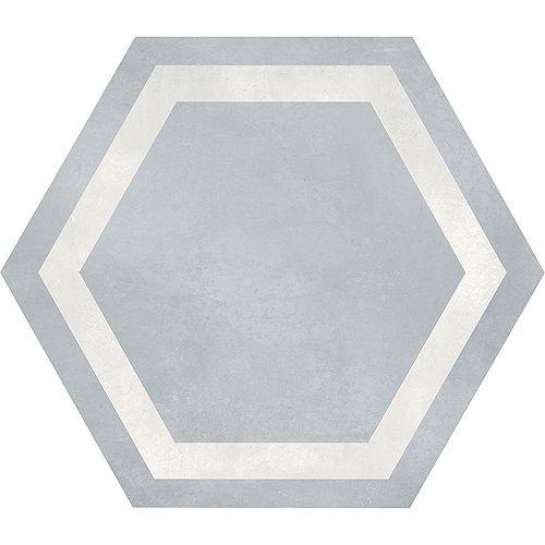 Artisano Acqua Hexagon Frame 7-inch x 8-inch High Definition Matte Porcelain Tile (2.8 sq. ft./Case)