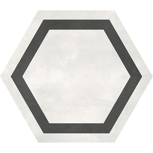 Artisano Arena Hexagon Frame 7-inch x 8-inch High Definition Matte Porcelain Tile (2.8 sq. ft./Case)