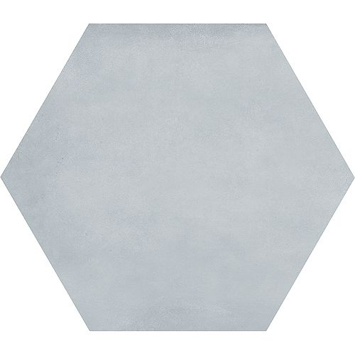 Carreau de porcelaine haute définition Matte Artisano Acqua Hexagon 7 x 8 po  (2,8 pi.ca/carton)