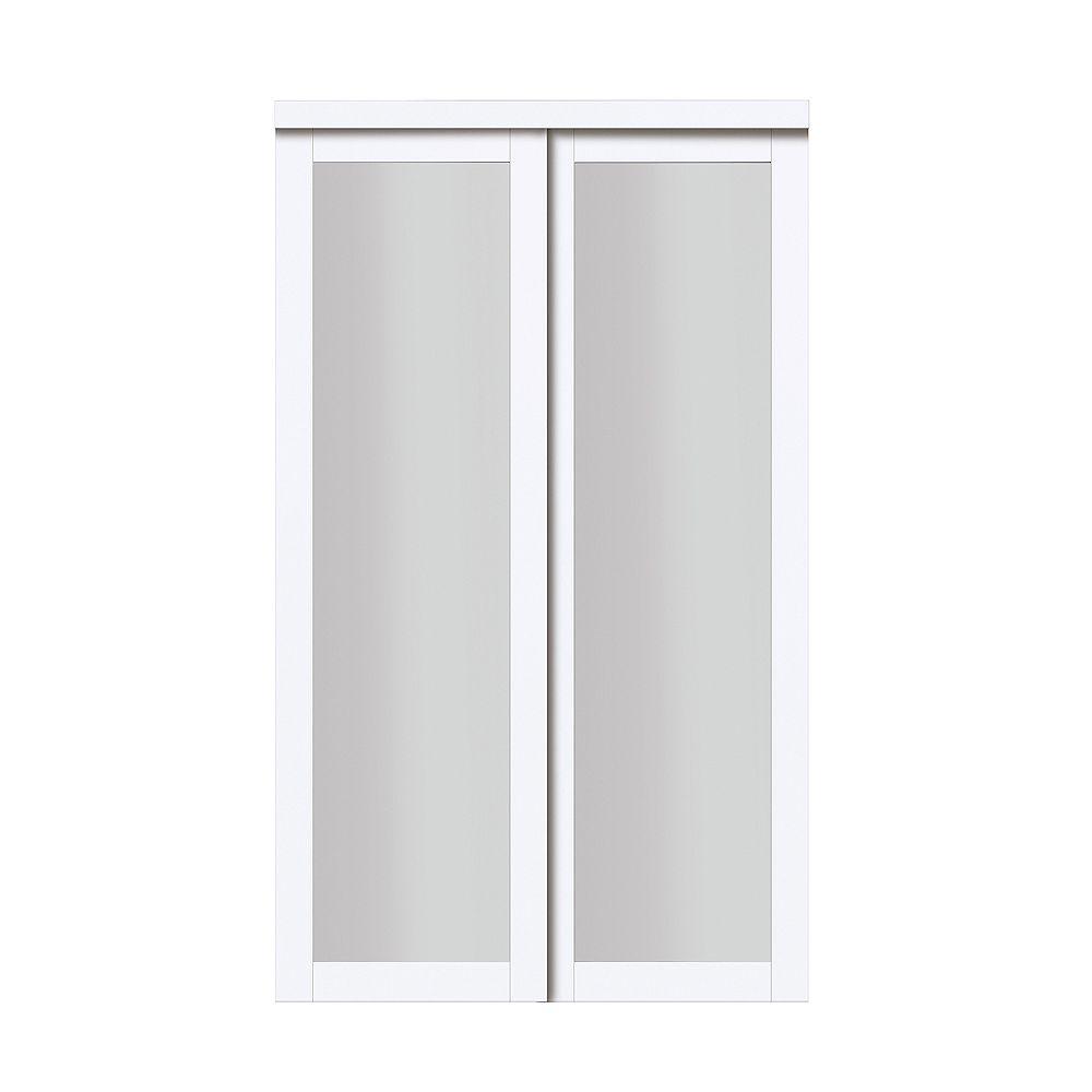 White Sliding Closet Door