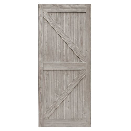 36 inch x 84 inch Silver Oak K Design Rustic Pre-Drilled Barn Door Slab