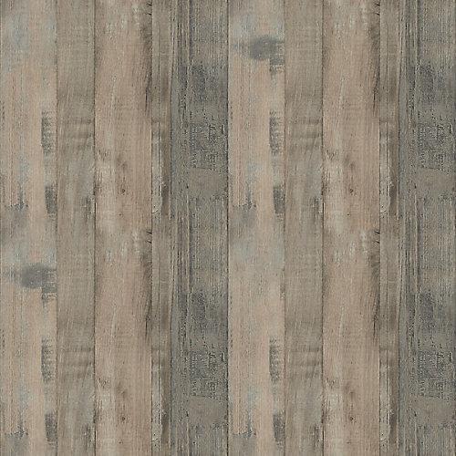 Seasoned Planked Elm 96-inch x 48-inch Laminate Sheet in Natural Grain Finish