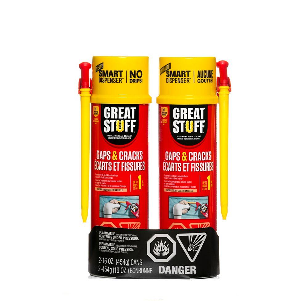GREAT STUFF Smart Dispenser Gaps & Cracks 16Oz Twin Pack