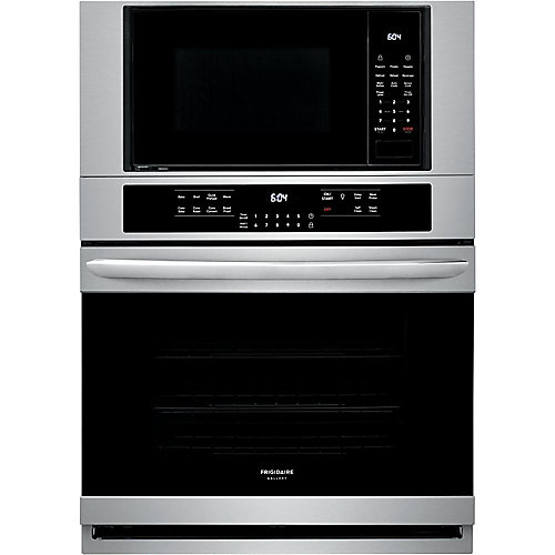 30-inch 5.1 cu. ft. Electric True Convection Wall Oven with Built-In Microwave in Stainless Steel