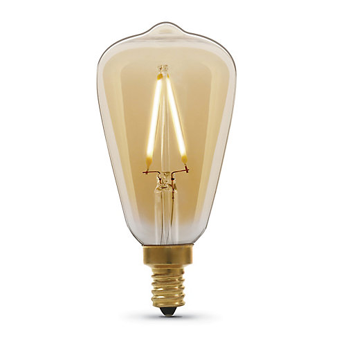 25W Eq ST15C Soft White (2100K) Dimmable Amber Glass Filament Vintage Style LED Light Bulb