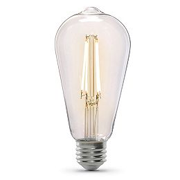 60W Equivalent Warm White (2100K) ST19 Dimmable Clear Glass Filament Vintage Edison LED Light Bulb