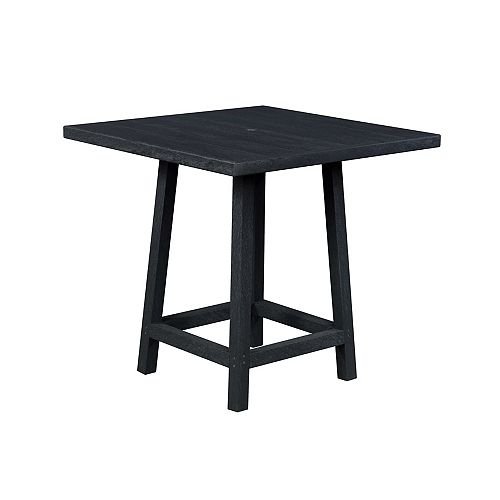 Square 40 inch Pub Table with 40 inch Legs Onyx